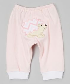 Look what I found on #zulily! Light Pink Woodland Hedgehog Pants - Infant #zulilyfinds
