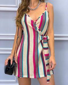 Super Moda Vestidos Cortos Elegantes Ideas - New Trend Casual Summer Dresses, Sexy Dresses, Cute Dresses, Dress Outfits, Short Dresses, Casual Outfits, Fashion Dresses, Cute Outfits, Fitted Dresses