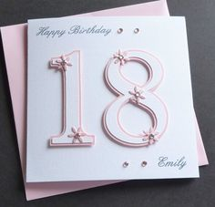 Handmade Personalised 16th 18th 21st Birthday Card in | eBay!