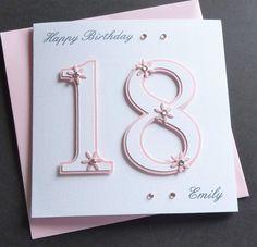 Handmade Personalised 16th 18th 21st Birthday Card in | eBay!