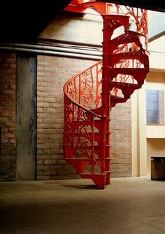 Spiral Staircase orange - Google Search