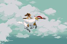 Pegasus Warrior  Pixel Artist: Pixeljam Source:  pixeljamgames.tumblr.com …Upcoming web game by Pixeljam