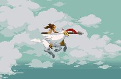 Pegasus Warrior  Pixel Artist: Pixeljam Source:  pixeljamgames.tumblr.com …Upcoming web game by Pixeljam