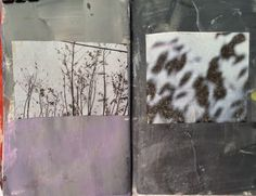 inspires: printing/painting with nature... sticks, leaves, weeds, etc.