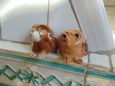Piccole civette portafortuna in ceramica. di PulcinellaCeramics