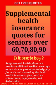 Supplemental health insurance quotes for seniors over 60 70 80 Types Of Health Insurance, Supplemental Health Insurance, Health Insurance Plans, Insurance Quotes, Car Insurance, Lotion, Senior Quotes, Health Lessons, Health Challenge