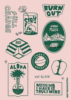 Vintage Graphic Design, Graphic Design Posters, Graphic Design Illustration, Graphic Design Inspiration, Digital Illustration, Branding Design, Logo Design, Design Design, 2 Logo
