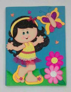 Imagen de goma eva Foam Crafts, Preschool Crafts, Easter Crafts, Crafts For Kids, File Decoration Ideas, Art Classroom Decor, Mazes For Kids, Cute Baby Dolls, Butterfly Crafts