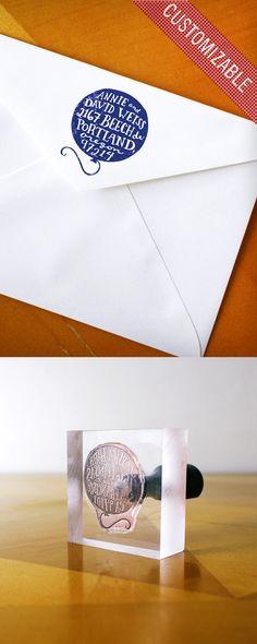 Custom Rubber Address Stamp (Hand-Drawn Balloon)