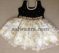 White Micro Printed Frock | Indian Dresses
