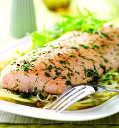 Herb salmon.  Prep: 10 minutes Cooking time: 2 ½ to 3 hours on low.