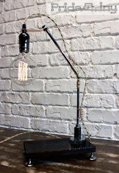 "Hand Made Table Lamp by ""Pride&Joy"" #woodlamp #woodlampshade #loft #gift #handmadeisbetter #tablelamp #prideandjoyworkshop #present #handmade #giftforman #design #homedesign #BuyDifferently #calledtobecreative #favehandmade #craftsposure #handcrafted #etsy #handmadegifts #homeinthestudio #madebyhand #makersmovement #handmadeseller #thenativecreative #gift #handmadeua #handmadeukraine #lamp #etsy #instagram #pinterest #etsyshop #лампа #edisonlamp #edison"