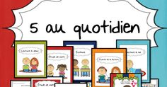 5quotidien2.pdf French Classroom, French Immersion, France, Daily 5, Literacy, Teacher, Education, Math, School