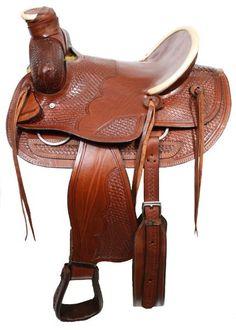 """16"""" Bear trap wade style hardseat saddle."""