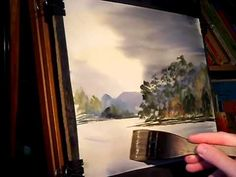 ▶ Watercolour Painting Tutorial featuring Loch Eck in Scotland - YouTube
