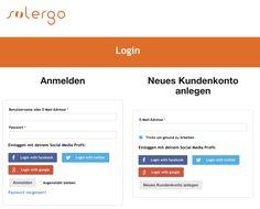 Login mit Social Media bei solergo.ch