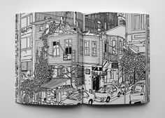 Book: Baku & Back - Ingo Giezendanner Sketchbook Inspiration, Sketchbook Ideas, Illustrations And Posters, New Artists, Picture Show, Zine, Amazing Art, Awesome, Images