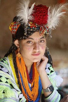 Unique cultured Kalash girls in traditional dress….this culture is one of the world's most unique cultures   Chitral Explorer چترال ایکسپلورر