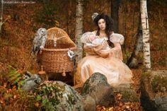 Tales of our life  Galina, Vasya and owl Senechka Photo shoot by