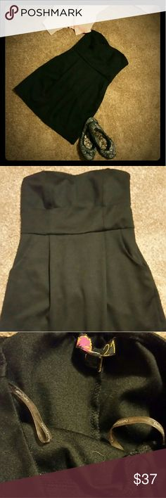 LITTLE BLACK DRESS ? Black and very versatile!  Dress it up with heels, dress it down with flats and a sweater, even a cute pair of boots!! New, no tags. Washed. Perfect condition.  Side zipper. Pleated.  TWO pockets. Forever 21 Dresses Strapless