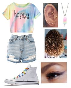 """Untitled #60"" by beautybyemilyl on Polyvore featuring Converse and Topshop"
