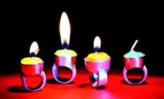 Anemone Tontsch, Kerzenringe (candle rings), silver, wax.  Undiminished Enthusiasm / Online Magazine / Art Aurea