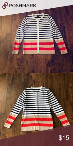 Pendleton Striped Cardigan NWOT, really cute striped cardigan! Pendleton Tops