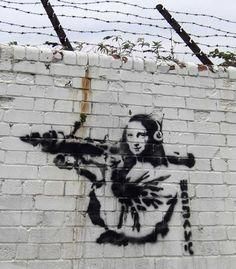 Banksy Graffiti, Arte Banksy, Banksy Work, Street Art Banksy, Graffiti Tattoo, Banksy Artist, Banksy Posters, Bansky, Banksy Canvas Prints