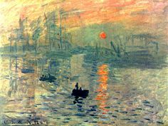 Monet: Sunrise   - Giclee Art Reproduction on Stretched Canvas
