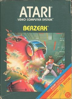 Box art for Berzerk, a home video game for the by Atari Vintage Video Games, Classic Video Games, Retro Video Games, Vintage Games, Video Game Art, Retro Games, Retro Toys, Vintage Toys, Games Box