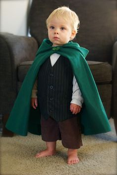 i made this #hobbit costume for my son this year. i am SO happy with the way it turned out! i used this tutorial for the cape: http://www.diaryofaquilter.com/2010/12/super-easy-superhero-cape-tutorial.html and this one for the hood: http://diyfashion.about.com/od/costumes/ss/Make_a_Cape_6.htm