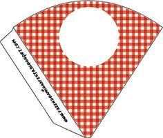 Xadrez Vermelho e Branco - Kit Completo com molduras para convites, rótulos para guloseimas, lembrancinhas e imagens! - Fazendo a Nossa Festa