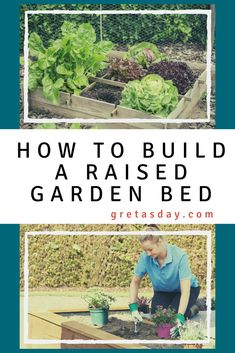 It's time to start planning your garden. learn how to build a garden bed, plan out your gardens, and figure out what to plant. This how to tutorial also teaches how to block weeds, and get the right soil mix for your raised gardens. Building A Raised Garden, Raised Garden Beds, Raised Beds, Raised Gardens, Good To Know, Weed, Diy Projects, Plants, Gardening