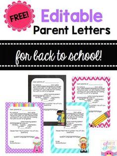 Back-2-Speech Parent Letters!                                                                                                                                                     More