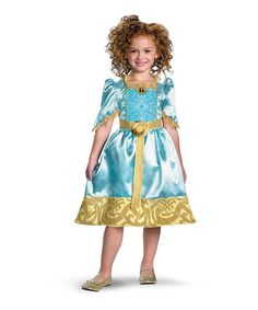 Take a look at this Aqua Merida Classic Dress - Toddler & Girls by Disney on #zulily today!
