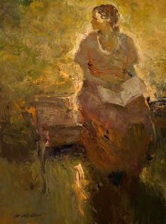 The light drains me of what I might be ... - from Lisel Mueller, A Nude by Edward Hopper. (image- the reader by Dan McCaw)