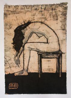 Depression batik painting by ManufactureBuchwald on Etsy, €99.00