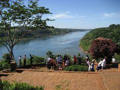 Triple frontier, Puerto Iguazu, Misiones, Argentina