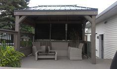 Beautiful  Contemporary Metal Roof Gazebo Photo Ideas in Gazebo