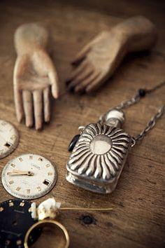 antique silver parfum bottle