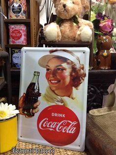 Coca Cola Decorative Tin Sign Coca Cola, Diet Pepsi, Tin Signs, Tins, Coke, Beverage, Appreciation, The Past, Posters