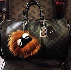 Fendi- Monster Fur Charm
