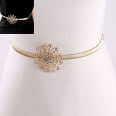 CMD by Mirna | US$ 4 | Thin Belts Flower Decorated Simple Design