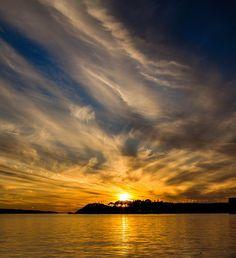 sunset in Split, Croatia
