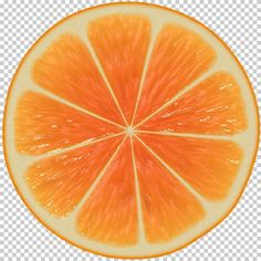 orange cross section