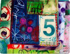 artJOURNALING καθημερινά: κολάζ υφασμάτων - creativityUNLEASHED από Traci…