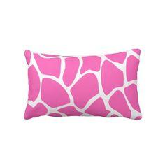 Shop Giraffe Print Pattern in Bright Pink. Lumbar Pillow created by Graphics_By_Metarla. Pink Throw Pillows, Bed Pillows, Custom Pillows, Decorative Pillows, Beverly Hills Houses, Giraffe Print, Bright Pink, Lumbar Pillow, Print Patterns