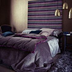 Purple Headboard Bedroom Ideas – Simple Home Designs Purple Bedroom Design, Purple Bedrooms, Home Decor Bedroom, Modern Bedroom, Bedroom Ideas, Garden Bedroom, Bedroom Small, Purple Headboard, Velvet Headboard