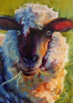 Sheep Paintings, Animal Paintings, Indian Paintings, Oil Paintings, Landscape Paintings, Watercolor Animals, Watercolor Art, Watercolor Paintings For Beginners, Sheep Art