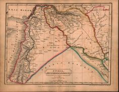 Syria Mesopotamia Assyria Middle East Antique Map 1822